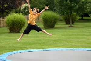 Hey Kids! Get off of my trampoline!
